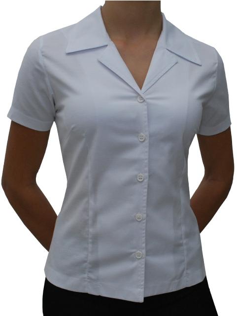 af90e1918daf0 Camisa social feminina manga curta branca